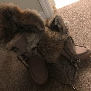 Coach fur boots